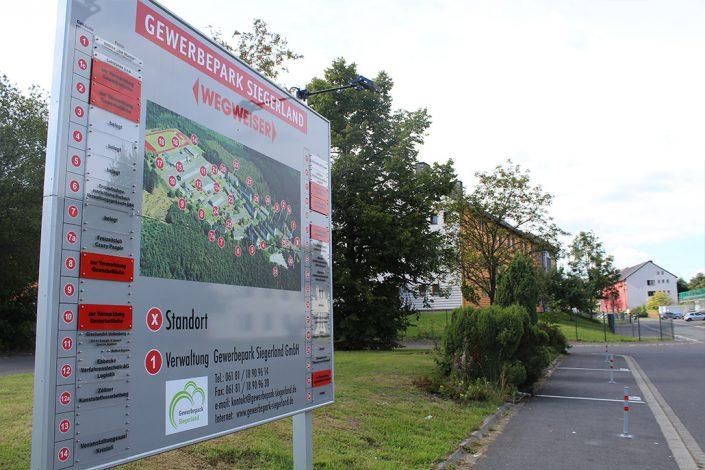 Gewerbepark Siegerland Wegweiser